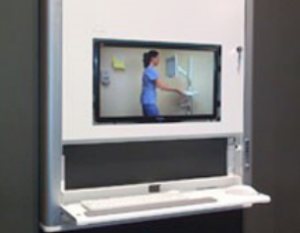 technology-cabinet for healthcare spaces