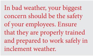 Employer Responsibilities in Winter Weather